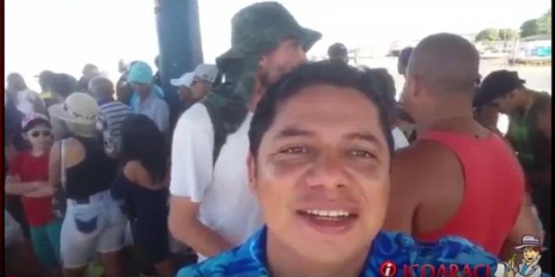 Fila no Trapiche de Icoaraci para aproveitar o último domingo de férias em Cotijuba.
