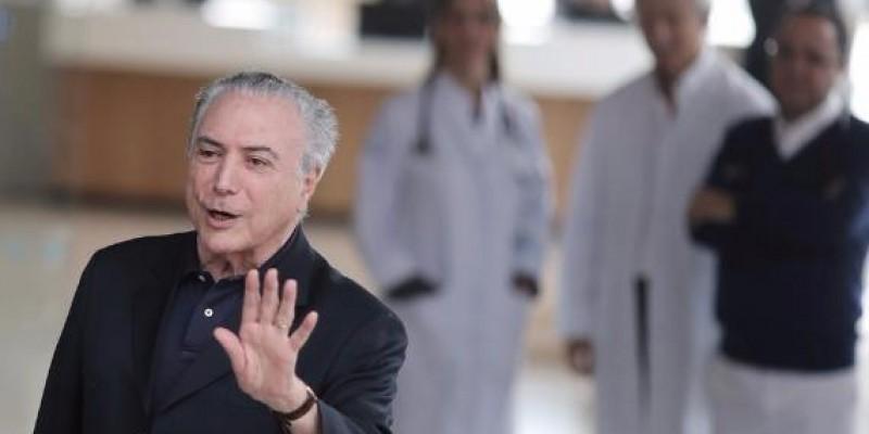 Temer recebe alta após internação para cirurgia urológica