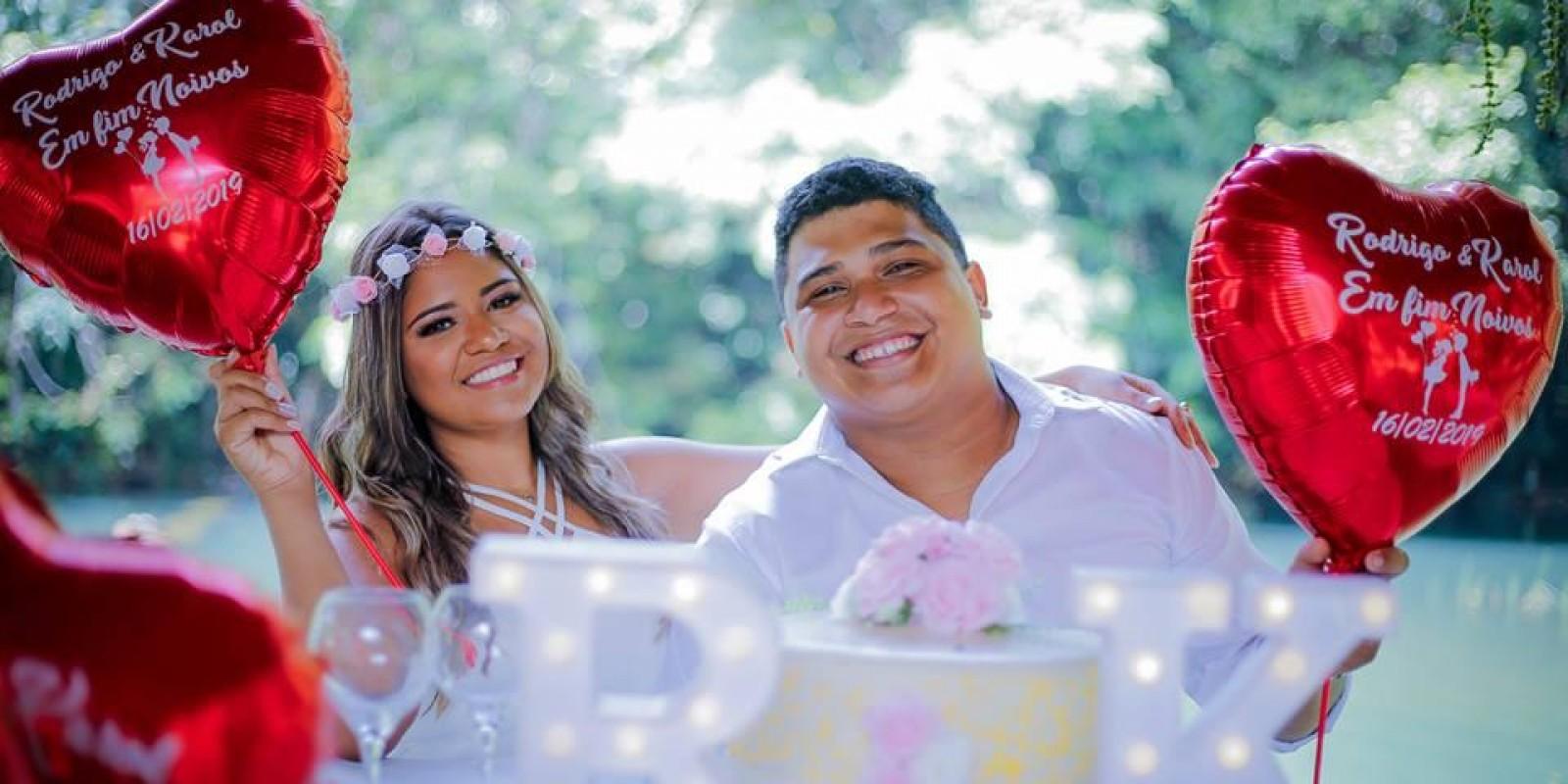Karol e Rodrigo ficaram noivos