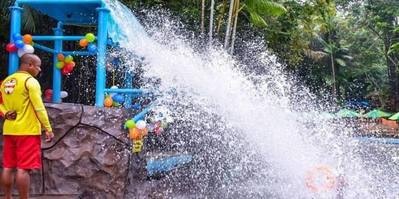 Novo brinquedo aquático no Parque dos Igarapés