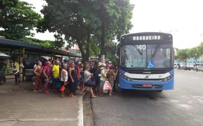 Paralisação de rodoviários atrasa saída  de ônibus para Mosqueiro