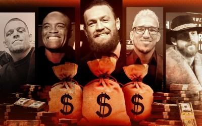 Chuva de dólar! Confira a li$ta com o$ maiore$ ganhadore$ de bônu$ da hi$tória do UFC