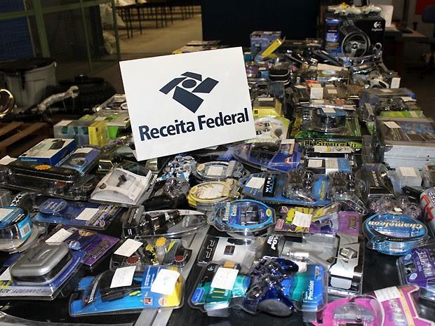 Bazar oferece produtos apreendidos pela Receita Federal