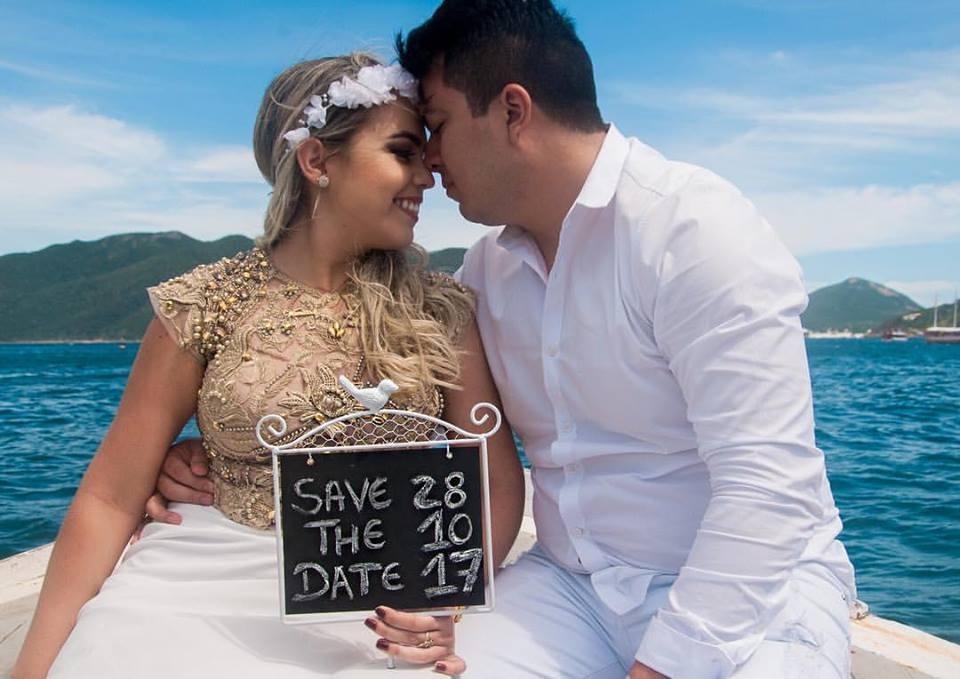Vanessa e Reinaldo os noivos de outubro