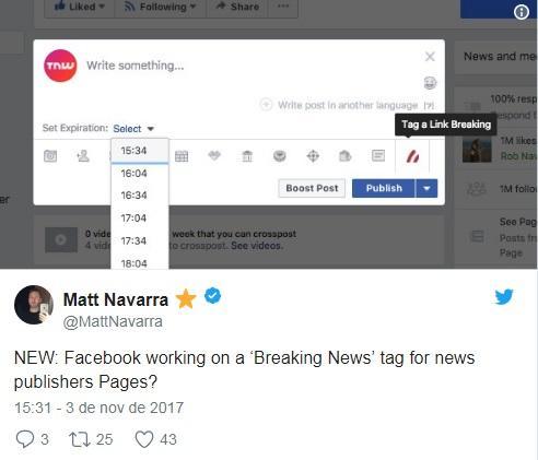 Facebook testa alerta nativo de