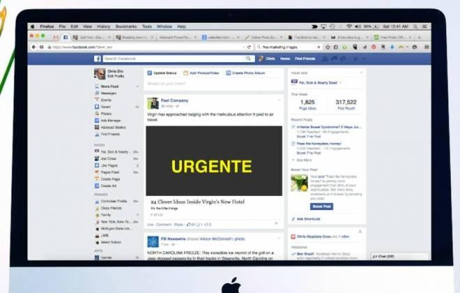 Facebook testa alerta nativo de 'urgente' em notícias postadas na rede social