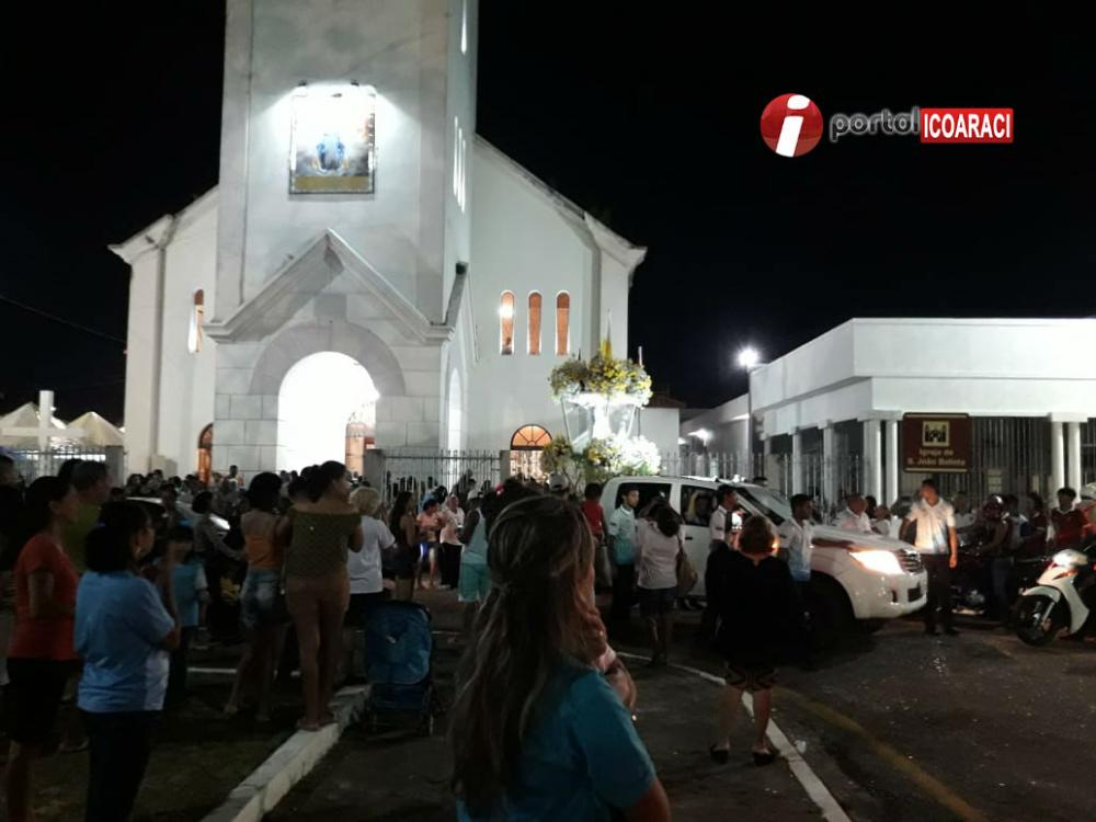 Missa de encerramento das peregrinações e carreata para Paróquia Nossa Senhora de Fátima