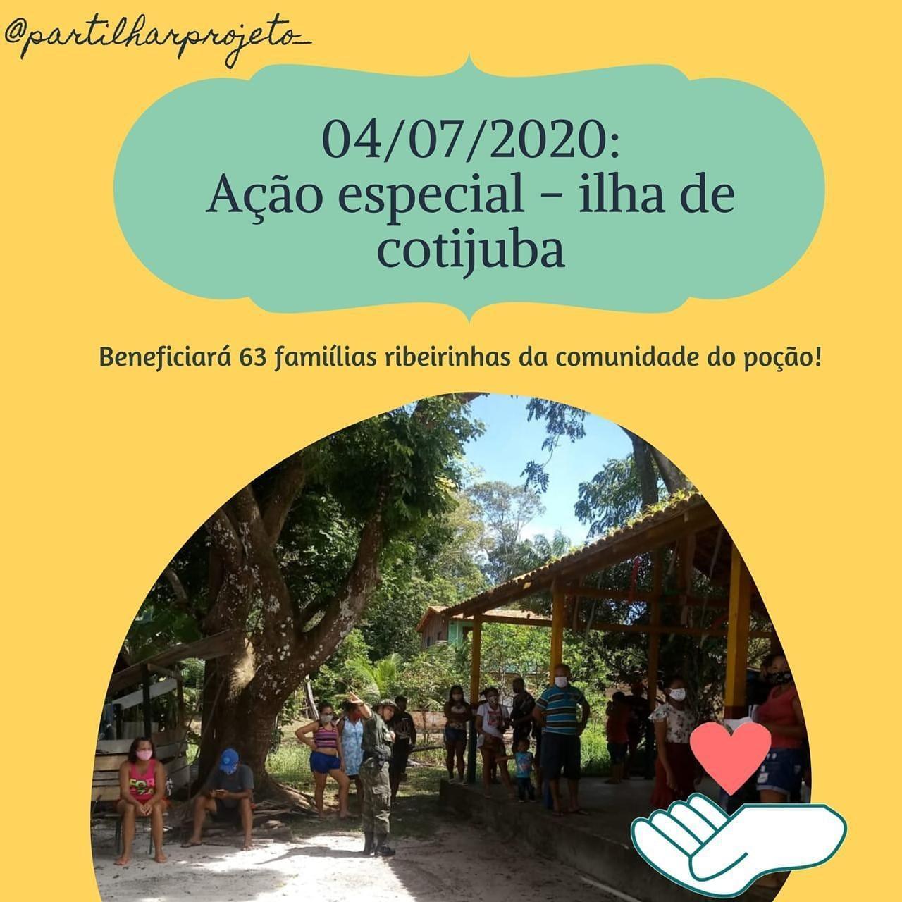 Neste final de semana tem Projeto Partilhar em Cotijuba