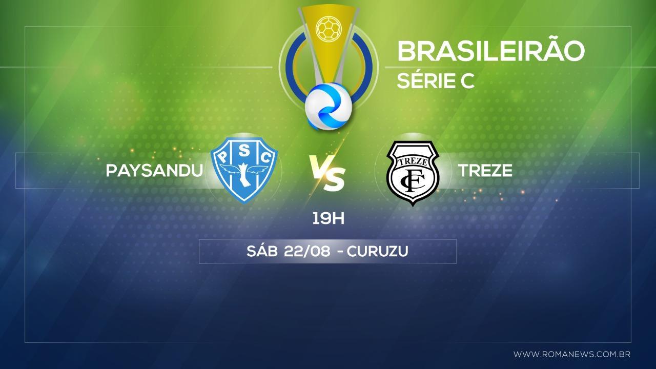Em busca da primeira vitória na Série C, Paysandu recebe o Treze neste sábado na Curuzu