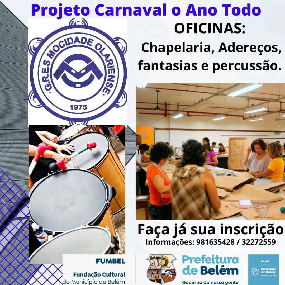 Mocidade Olariense abre inscrições para o projeto Carnaval o ano todo