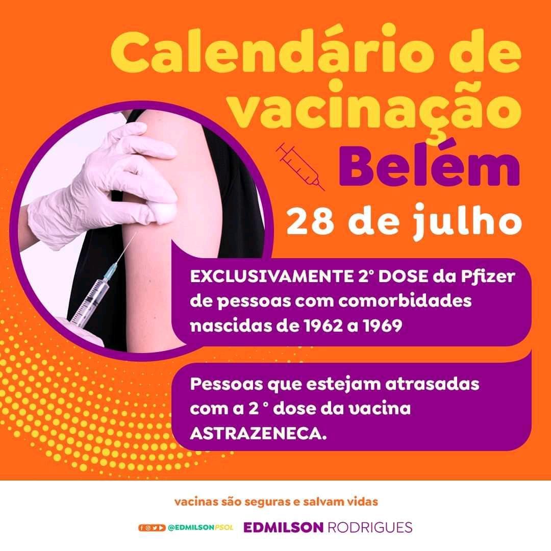 Tem vacina nesta quarta-feira (28)