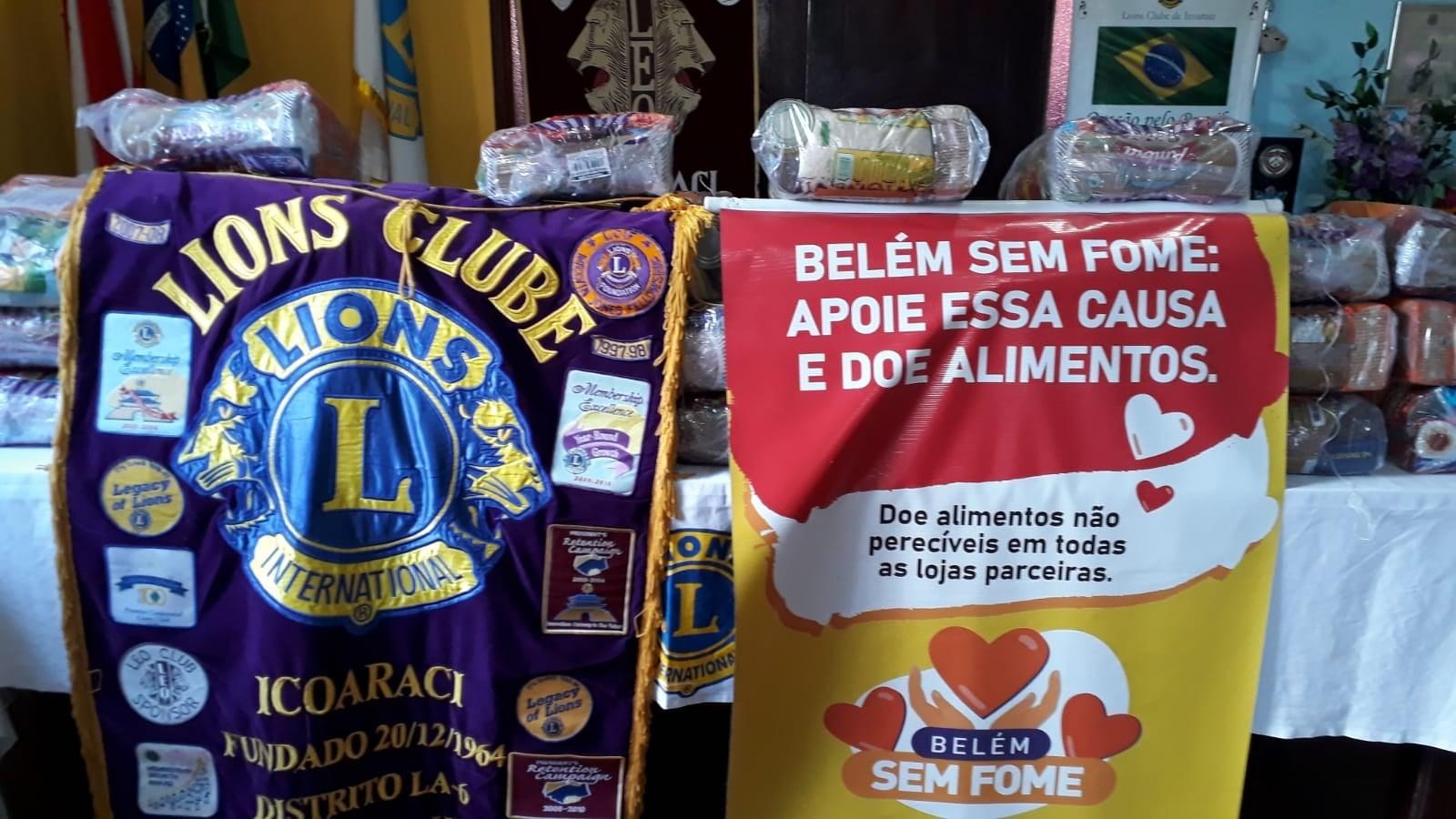 Terceira Idade do Lions Clube Icoaraci recebe doações de cestas básicas
