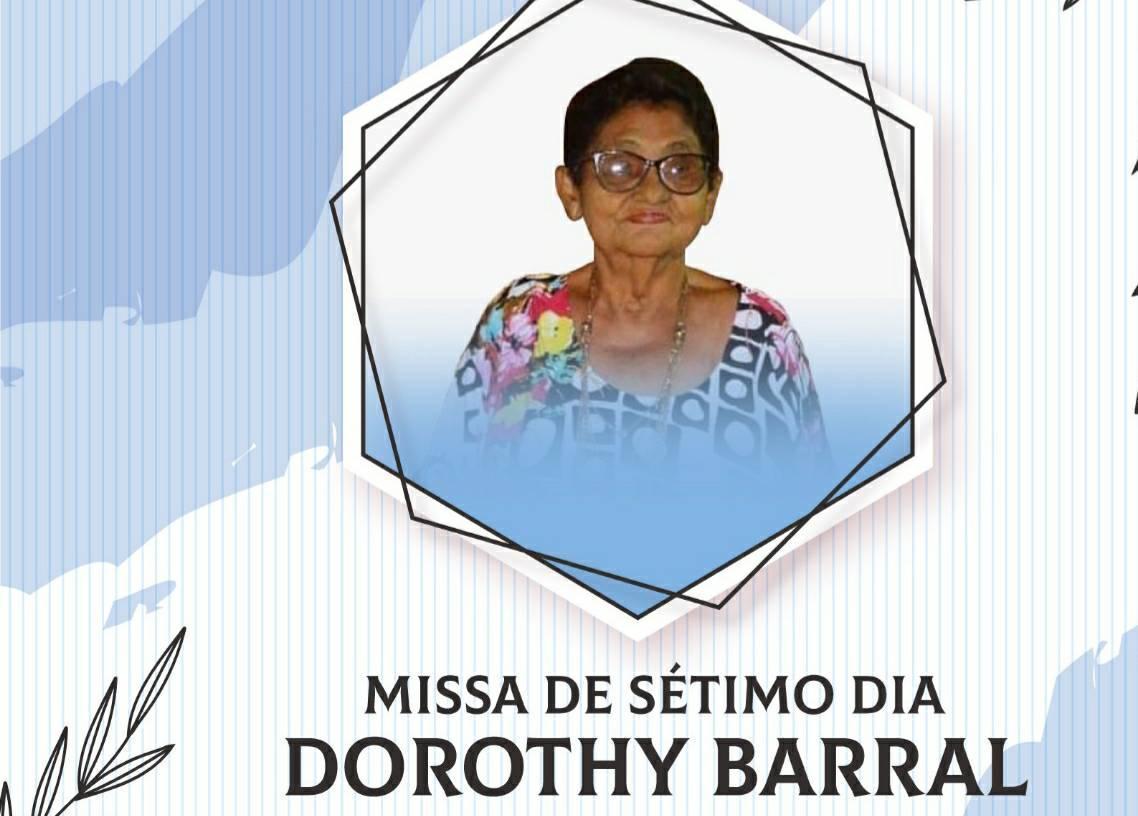 Nota pesar - missa de sétimo dia - Sra. Dorothy Barral