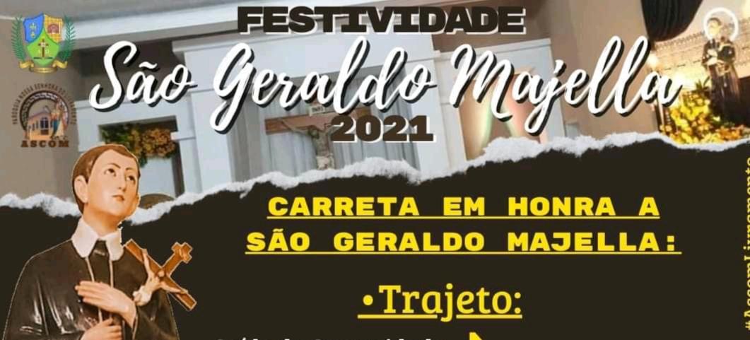 Acompanhe o trajeto da carreata em homenagem a São Geraldo Magella